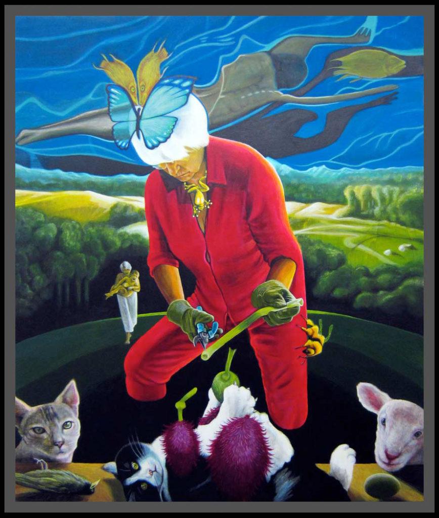Die Gärtnerin bekämpft die gemeine Teufelskralle (2012)