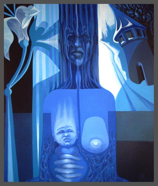 Blaue Milch (1997) von Yolanda Feindura
