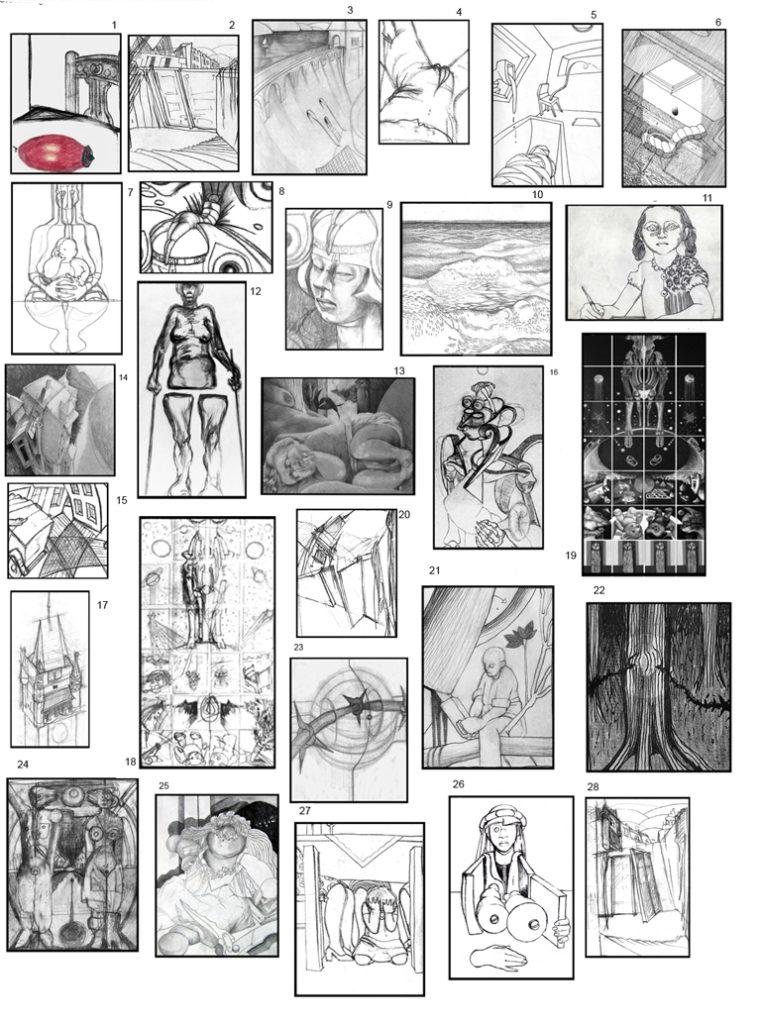 Zeichnungsbogen von Yolanda Feindura